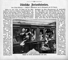 Dänische Ferienkolonien (Prof.Sophus Bauditz) Historical Memorabilia 1912