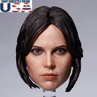 1//6 CUSTOM Felicity Jones Head Sculpt For Star Wars Jyn Erso Figure USA SELLER