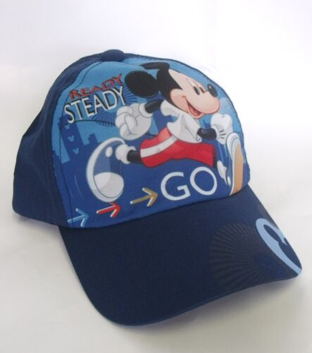 BNWT MICKEY GO BASEBALL CAP in BLUE or RED 1-8 YEARS 52cms 54cms