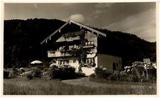 BAD WIESSEE Bayern 1936 Dt. Reich Postkarte Partie am Haus Anna Ferienwohnungen