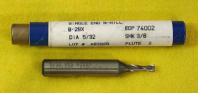 "Fastcut 5//32/"" 2 Flute SE HSS Endmill  End Mill #74002 B-28X  B28X Made in USA"