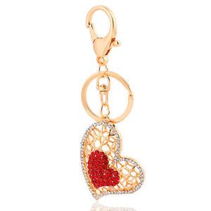 Borsetta-Ciondoli-Accessori-Cuore-Rosso-034-Love-034-Regalo-Portachiavi-Romantico-HK92