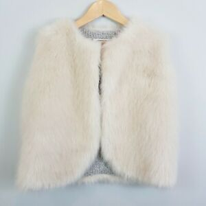 Size-12-COUNTRY-ROAD-Girls-Reversible-Faux-Fur-Vest-Jacket
