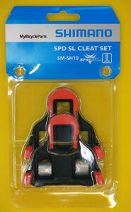 Shimano-SPD-SL-Dura-Ace-Ultegra-Pedal-Cleats-SM-SH10-Red-Fix-Mode