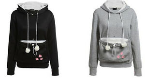 Unisex Hoodies Pouch Pet Dog Cat Hooded Pullover With Ears Sweatshirt