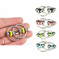 Fiddle Fidget Hand Finger Spinner Double Ring Chain Kid Toy Autism Stress Relief