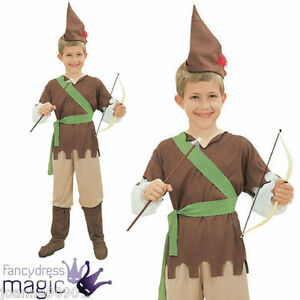 BOYS-ROBIN-HOOD-PETER-PAN-HUNTER-FANCY-DRESS-COSTUME-BOOK-WEEK-CHILDS-CHILDRENS