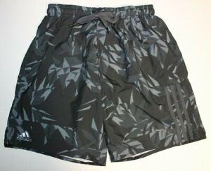 Mens-Adidas-Board-Surf-Swimwear-Swimming-Beach-Shorts-Trunks-Medium-Black-Gray