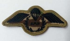Genuine British Army Issue Camo Subdued APJI Jump Instructor Para Wings Patch