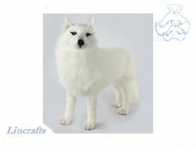 Hansa Standing White Wolf 7316 Plush Soft Toy Sold by Lincrafts Established 1993