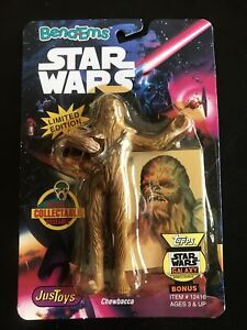 Star-Wars-1993-Bend-ems-Vintage-Figure-Justoys-Chewbacca-TOPPS-Trading-Card