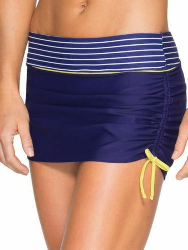 NWOT Athleta Capitola Scrunch Swim Skirt, Amalfi bluee SIZE S     v76