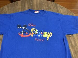 Vintage-Walt-Disney-World-Mickey-Inc-XL-Blue-T-Shirt