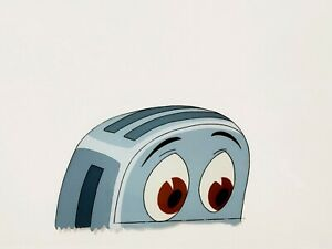 🍞 Disney's The Brave Little Toaster Animation Production Hand Painted Cel 1989