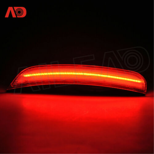 For 2015-18 Dodge Charger LED Side Marker Light Turn Signal Lamp Clear Rear RED