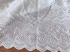 """65/% Poly 35/% Cotton Blend Embroidered Eyelet Lace Allover Fabric 40/""""-41 Ivory"""