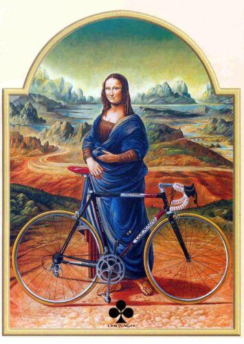 Colnago C40 Mona Lisa A4 poster Campagnolo Super Record Colnago Master Bianchi