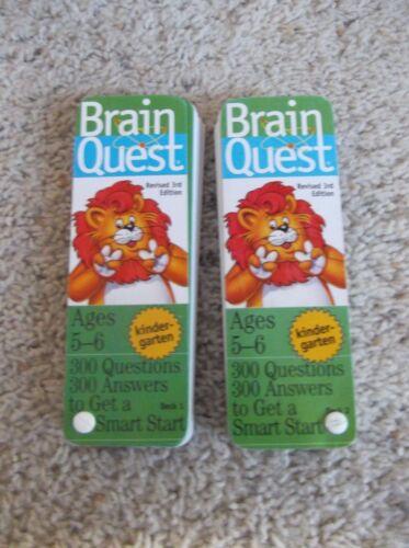 Brain Quest Kindergarten Ages 5-6 Deck One /& Deck Two