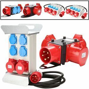 400V-Stromverteiler-Baustromverteiler-32A-Adapter-CEE-Geraetestecker-Industrie