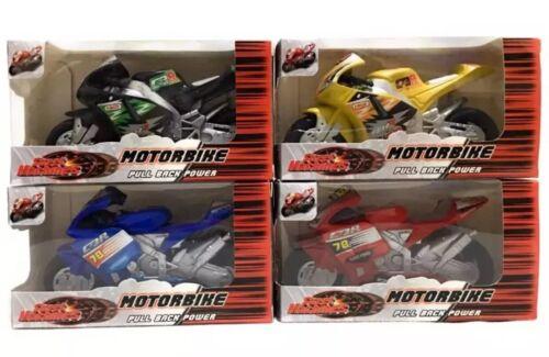 Tirer vers l'arrière moto jouet moto Street Machine Friction puissance cadeau 3