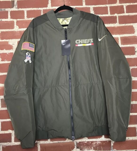 3fc94a91922 Nike Men's Kansas City Chiefs Salute to Service Reversible Bomber Jacket  Size 2X
