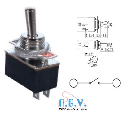 OFF - Saldatura 250 V Interruttore a pulsante DPDT 10 A ON Collegamento Rapido