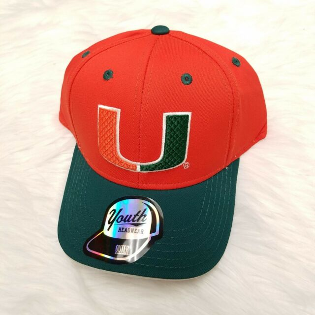 Orange NCAA Miami Hurricanes Embroidered Adjustable Back Strap Cap
