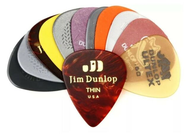 Dunlop 12 Pack Guitar Pick Variety Pack - Light/Medium