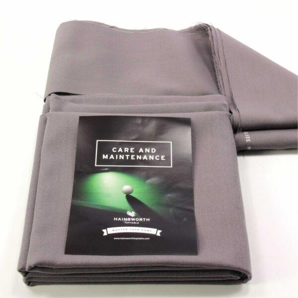 Hainsworth Elite Pro Bed & Cuscino Set Per 7 Ft (ca. 2.13 M) Uk Tavolo Da Biliardo-banchieri Grigio Rinvigorire Efficacemente La Salute