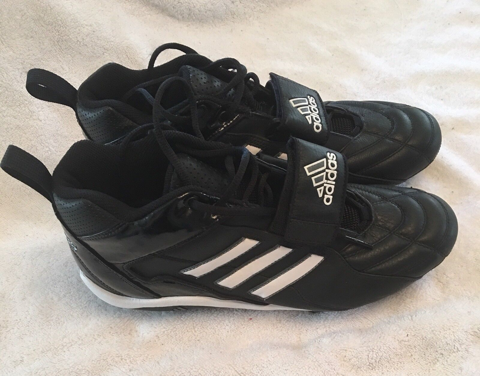 ADIDAS Mens Football Cleats Black White Shoes Comfortable Seasonal price cuts, discount benefits