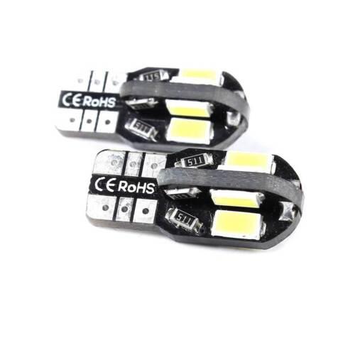 T10 CAR BULBS LED ERROR FREE CANBUS 8 SMD XENON WHITE W5W 501 SIDE LIGHT BULB