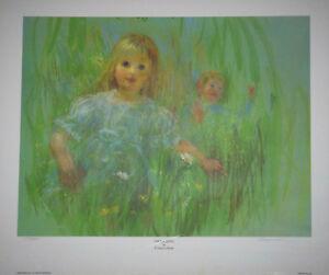 034-Frolicking-034-by-Frances-Hook-Limited-Edition-Hand-Signed-Art-Print-1982-Kids