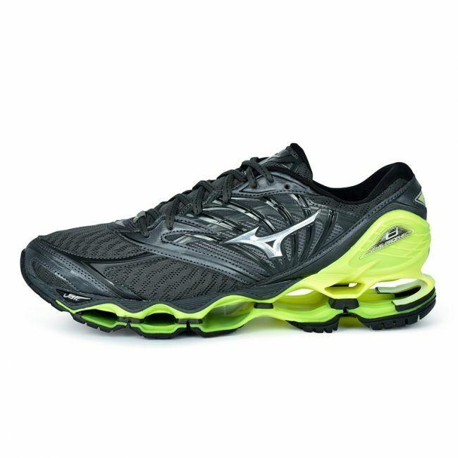 Mizuno Wave Prophecy 8 Men Running zapatos J1GC190005 Sombra Oscura Amarillo 18N