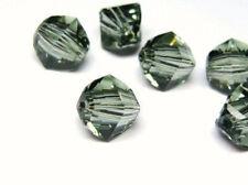 4pcs Swarovski® Lucerna Beads 5030 8mm  Black Diamond