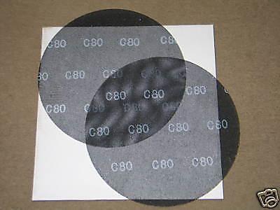 """Case of 10 Virginia Abrasives Discs 17/"""" 80 Grit Floor Sanding Screens"""
