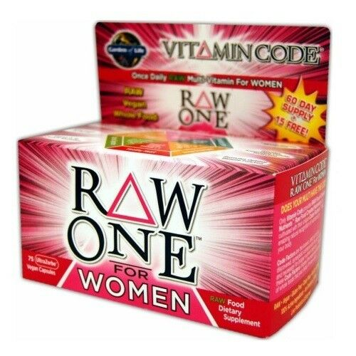 Garden of Life Vitamin Code RAW ONE FOR WOMEN 75 Caps