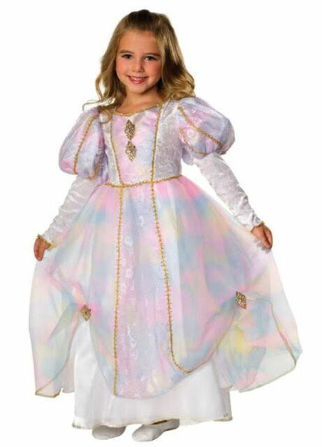 Regal Pink & Blue Rainbow Princess Sleeping Beauty Gown, Rubies 883720