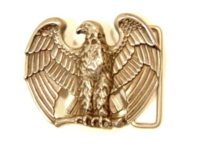 large silver color eagle shaped belt buckle