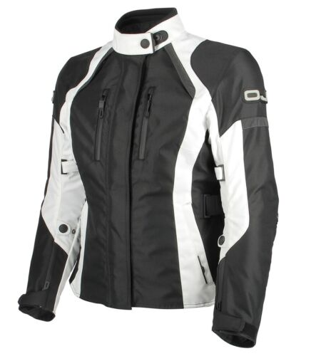 Jacket moto OJ J094 Unstoppable Lady Black white