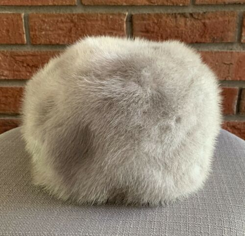 Vintage Gray Fur Hat Designed by Lora Union Made