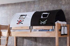 Etagenbett Pirat : Spielbett hochbett toby r buche massiv inkl vorhang pirat braun