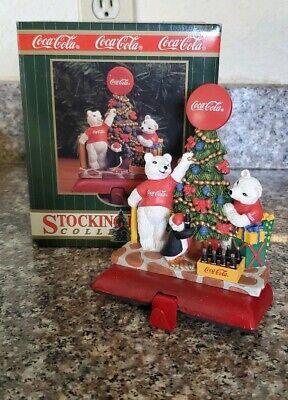 1997 Vintage Coca Cola Stocking Holder Collection Polar Bears