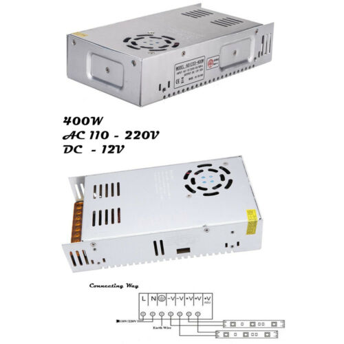 DC12V Driver Power Supply Unit Electronic LED Transformer Strip Light MR 16//CCTV