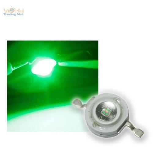 5 Highpower LEDs 3W Grün, 3 W grüne High Power SMD LED 3 Watt 700mA green verte