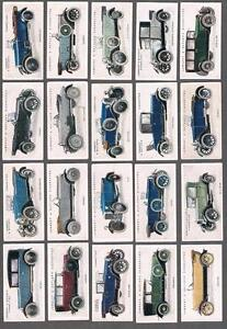 1923-Lambert-amp-Butler-Motor-Cars-Second-Series-Tobacco-Cards-Complete-Set-of-25