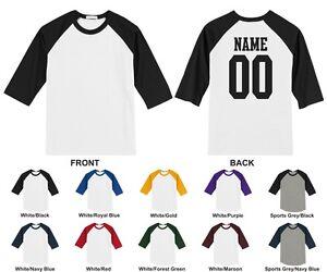 52b2d43d7cd20d Image is loading Custom-Raglan-Baseball-T-shirt-Front-Blank-Back-