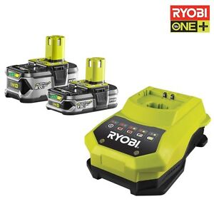 ryobi battery set rbc18ll415 18 volt 1 5 ah 4 0 charger bcl14181h ebay. Black Bedroom Furniture Sets. Home Design Ideas