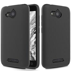 Details about For Alcatel Tetra 6753B / 5041C / 5041 Sleek Hybrid Phone  Case - Black