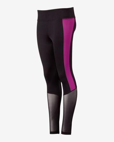"NWT Express EXP Core Black And Purple Side Stripe Legging Value $70  SZ /""L/"" SO"