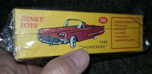 ATLAS EDITIONS DINKY 555 replica FORD Thunderbird BLUE boxed but opened